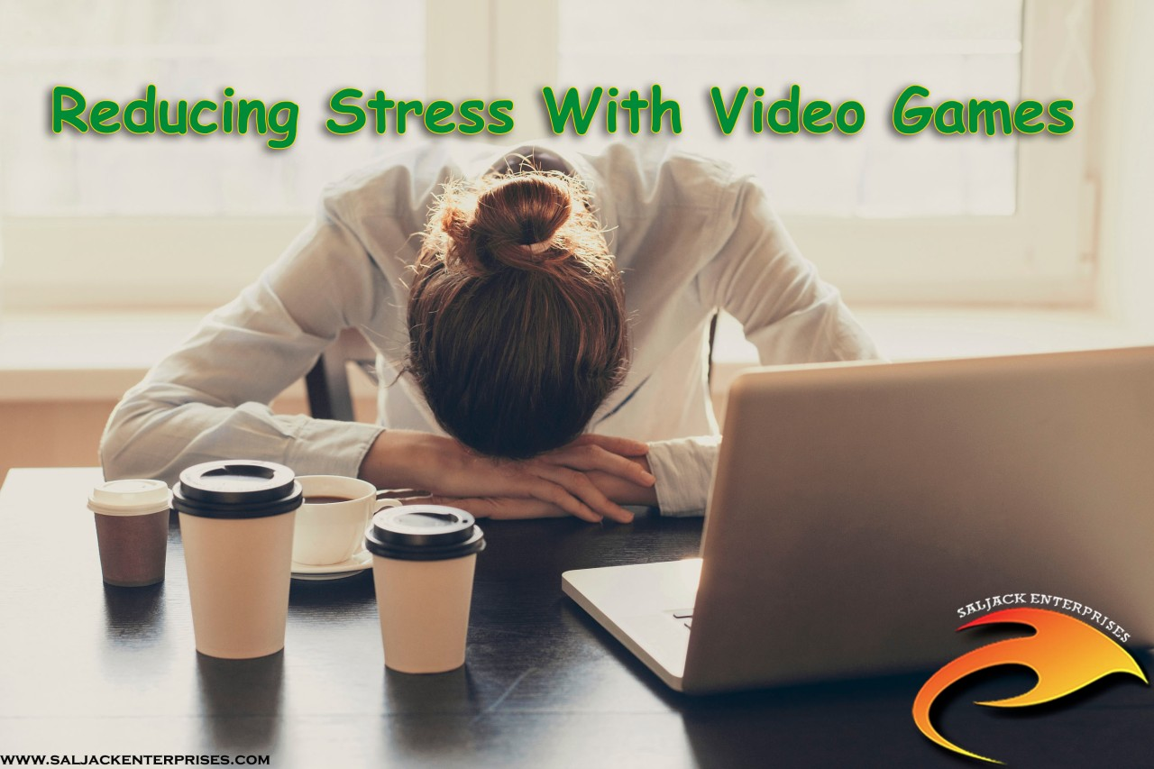 Reducing Stress With Video Games. Presented by Saljack Enterprises. Gaming. Media & Entertainment.
