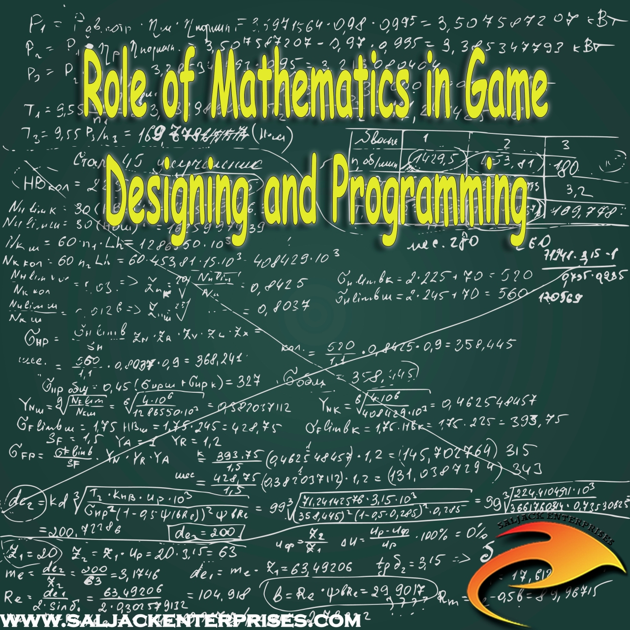 Role of Mathematics in Game Designing and Programming. Presented by Saljack Enterprises. Gaming. Media & Entertainment.